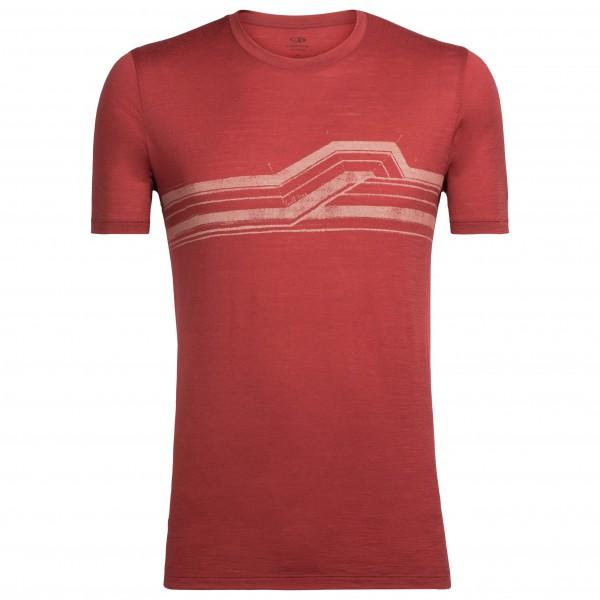Icebreaker - Tech Lite S/S Crewe Seismic Stripe - T-skjorte