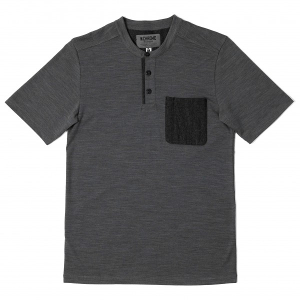 Chrome - S/S Merino Henley - T-shirt