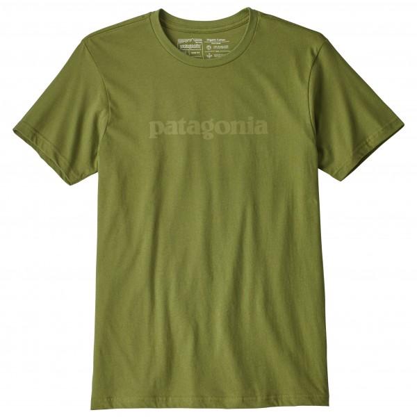 Patagonia - Text Logo Organic T-Shirt - T-skjorte