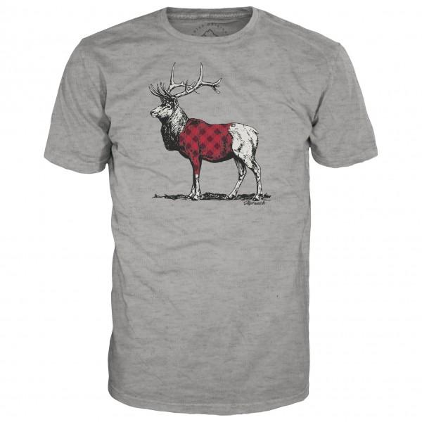 Alprausch - Karo-Hirsch T-Shirt - T-skjorte