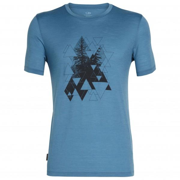 Icebreaker - Tech Lite S/S Crewe Evergreen Geo - T-shirt