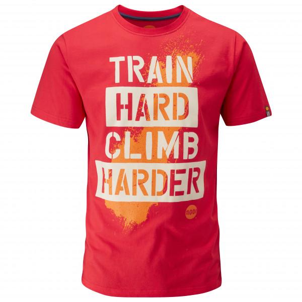 Moon Climbing - Train Hard Stencil T_Shirt - T-paidat
