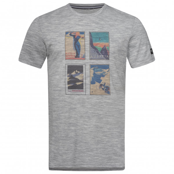 SuperNatural - Digital Print Tee Alpine Collage - T-Shirt