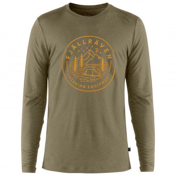 Fjällräven - Abisko Wool Tältplats L/S - Camiseta de manga larga