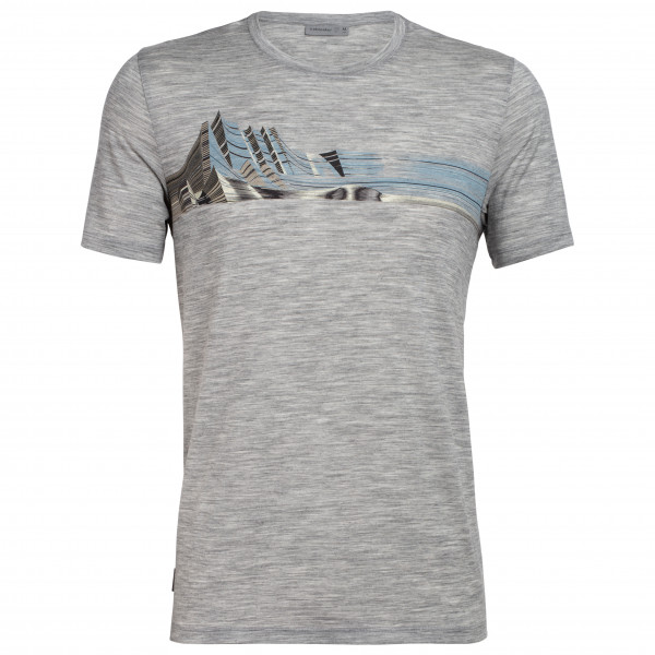 Icebreaker - Tech Lite S/S Crewe Mont Blanc Moiré - T-Shirt