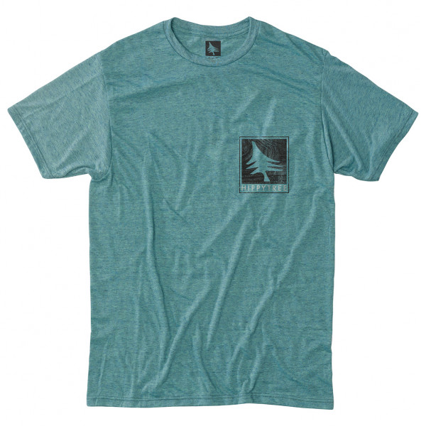 Hippy Tree - Woodgrain Tee Poly - T-Shirt