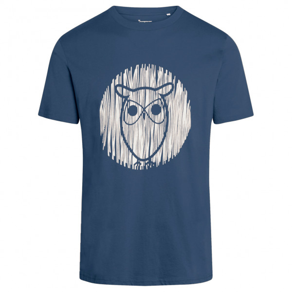 KnowledgeCotton Apparel - Alder Outline Owl Tee Vegan - T-shirt