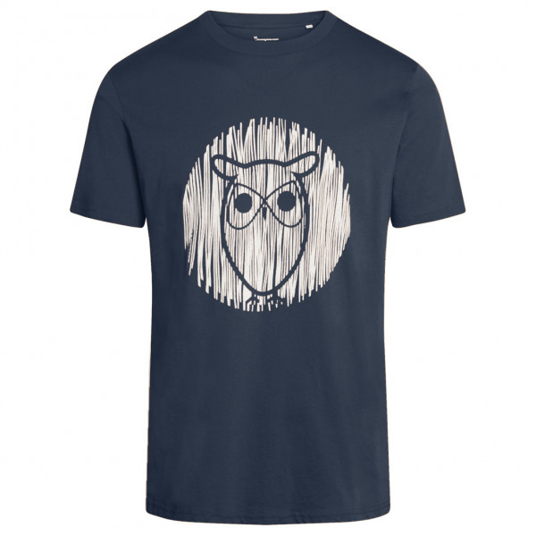 KnowledgeCotton Apparel - Alder Outline Owl Tee Vegan - T-shirt