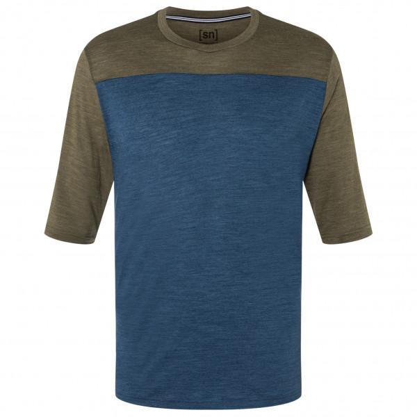 Contrast 3/4 - Merino shirt