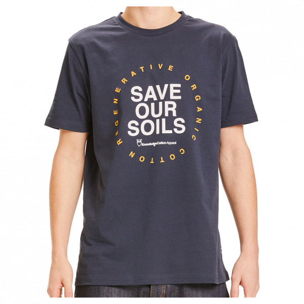 KnowledgeCotton Apparel - Alder Ro Save Our Soil Tee Vegan - T-Shirt