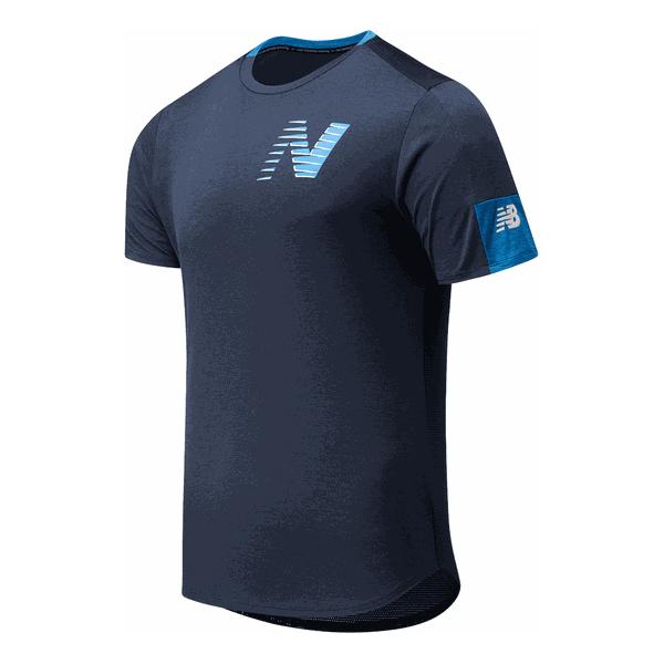 New Balance - Printed Fast Flight Short Sleeve - Laufshirt