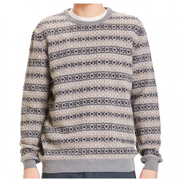 KnowledgeCotton Apparel - Valley Jacquard Wool Knit - Överdragströjor