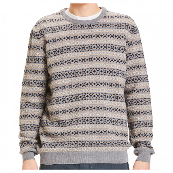 KnowledgeCotton Apparel - Valley Jacquard Wool Knit - Trui