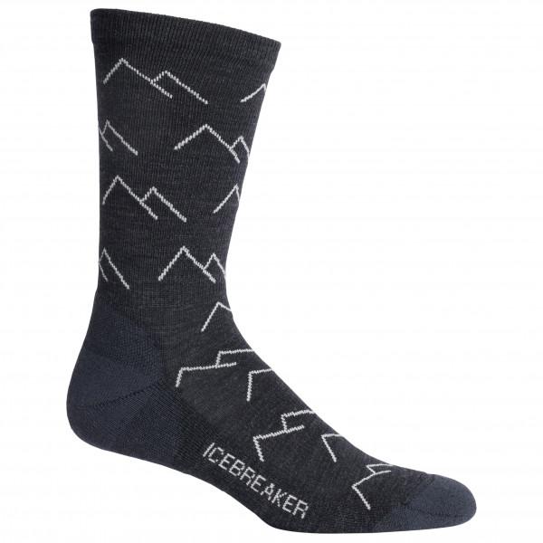 Icebreaker - Lifestyle Light Crew Mountainscape - Multifunktionelle sokker