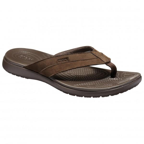 Crocs - Santa Cruz Leather Flip - Sandalias de montaña