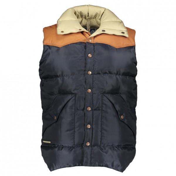 Powderhorn - The Original Leather Vest - Donzen bodywarmer