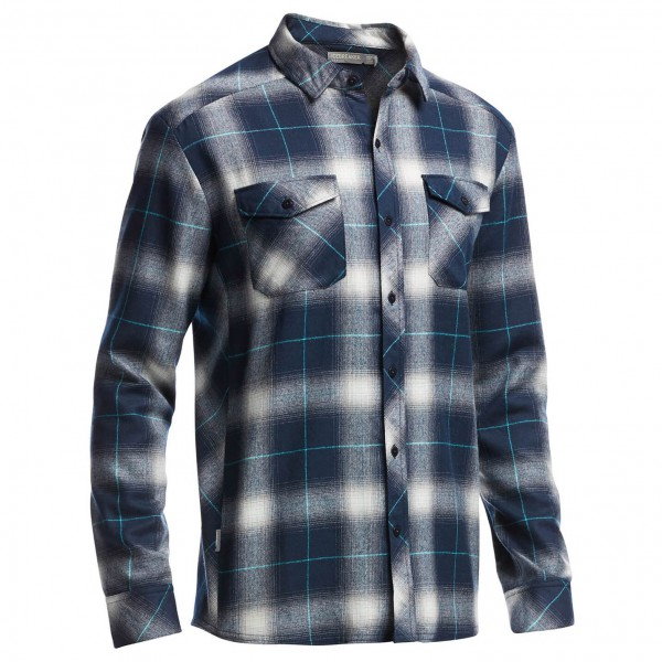 Icebreaker - Lodge L/S Flannel Shirt - Paita