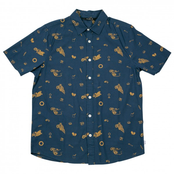 Poler - Wheelie Short Sleeve Button Up - Shirt