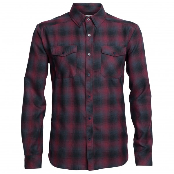 Icebreaker - Lodge L/S Flannel Shirt - Paita