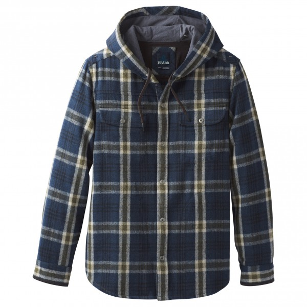 Prana - Bolster L/S Hooded Flannel - Hemd