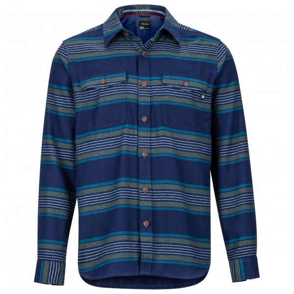 Marmot - Zephyr Cove Midwight Flannel L/S - Hemd