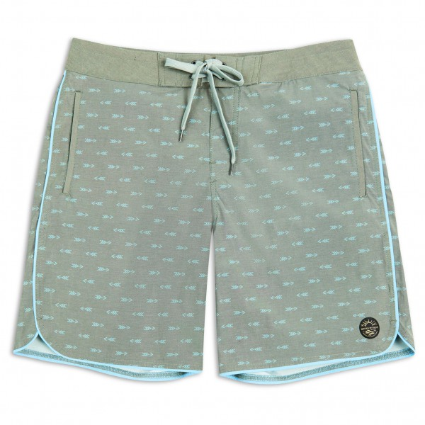 United By Blue - Longbow Scallop Boardshort - Boardshorts