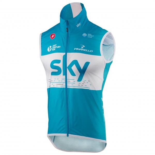 Castelli - Pro Light Wind Vest Team Sky 2018 - Fietsbodywarmer