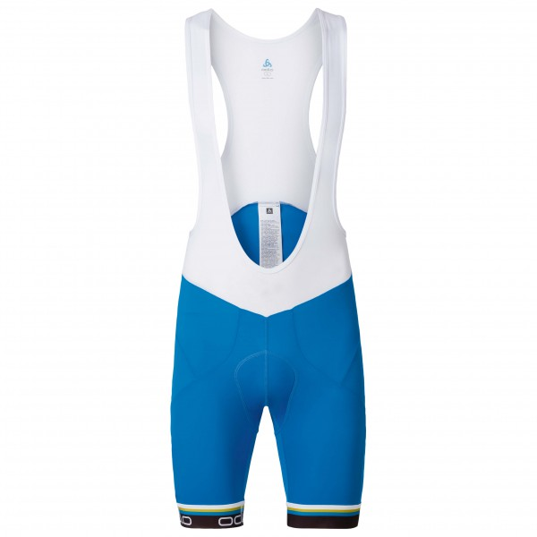 Odlo - Flash X Tights Short Suspenders - Pantalon de cyclism