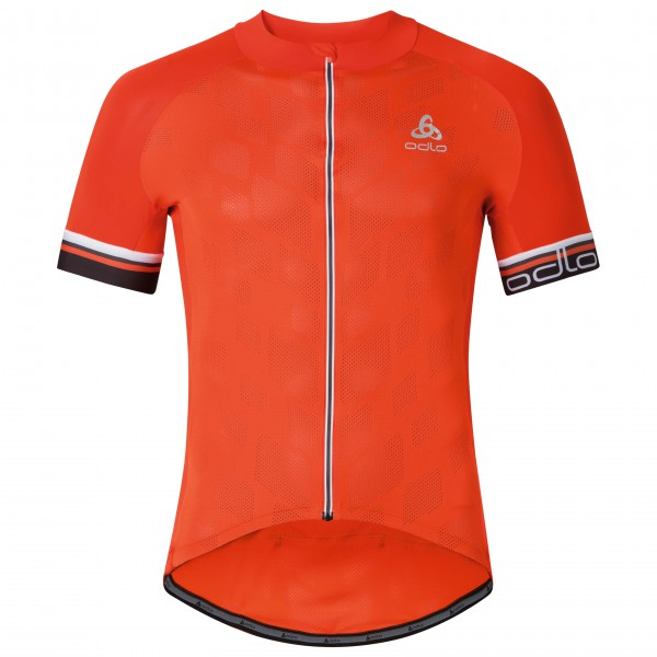 Odlo - Breathe Stand-Up Collar S/S Full Zip - Fietsshirt