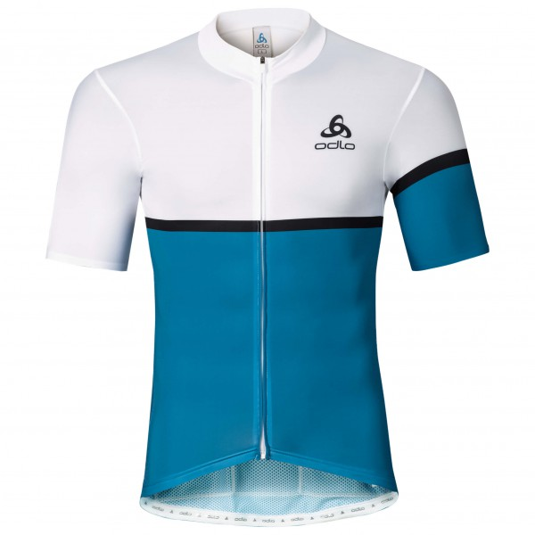 Odlo - Kamikaze Stand-Up Collar S/S Full Zip - Radtrikot