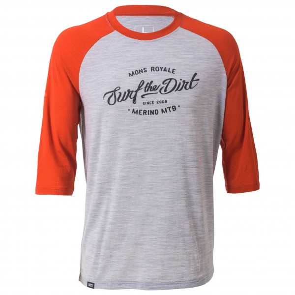Mons Royale - Redwood 3/4 Raglan T-Shirt Dirt