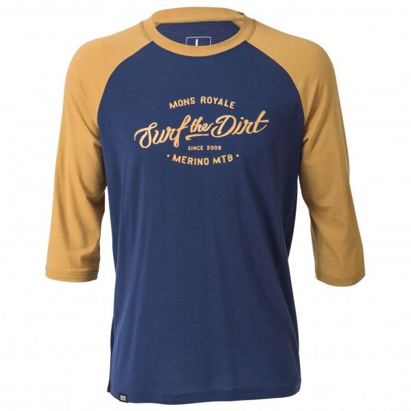 Mons Royale - Redwood 3/4 Raglan T-Shirt Dirt - Longsleeve