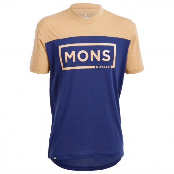 Mons Royale - Redwood V-Neck T-Shirt Box Logo - Fietsshirt