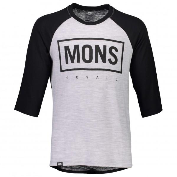 Mons Royale - Redwood 3/4 Raglan T Box Logo - Radtrikot