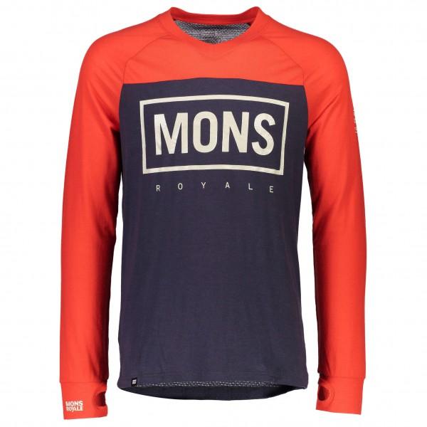 Mons Royale - Redwood V L/S Box Logo - Cykeljersey