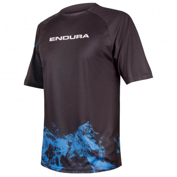 Endura - SingleTrack Print T-Shirt Mountains - Cykeltrikå