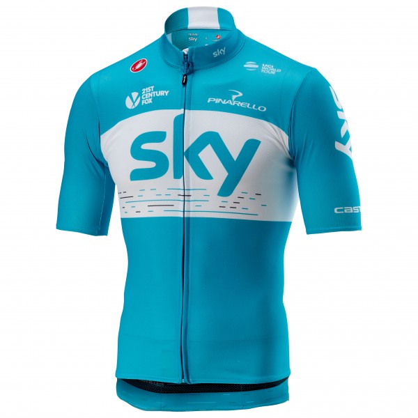 Castelli - Podio Jersey Full Zip Team Sky 2018 - Cycling jersey