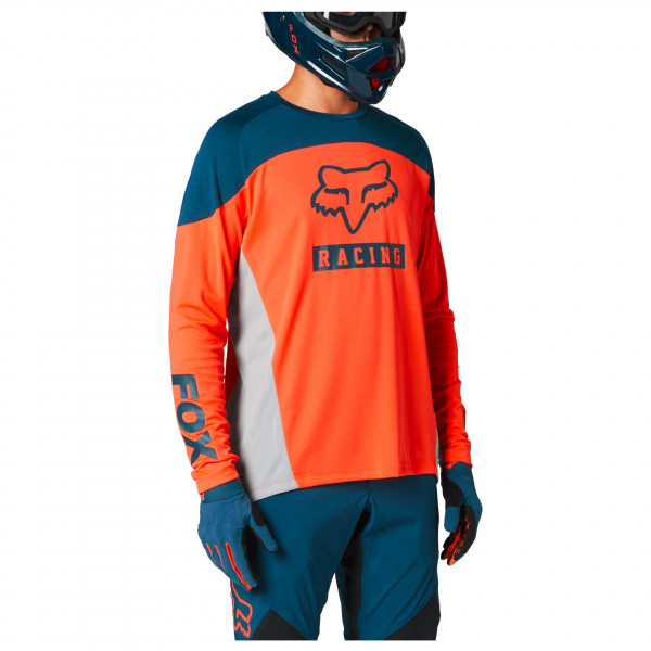Defend L/S Jersey Logo Print - Cycling jersey