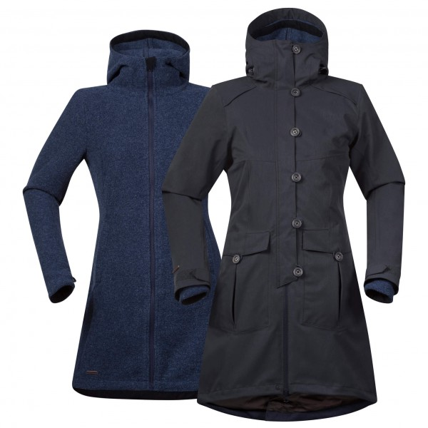 Bergans Bjerke 3in1 Jakke Damer, outer:solid charcoalinner:night blue