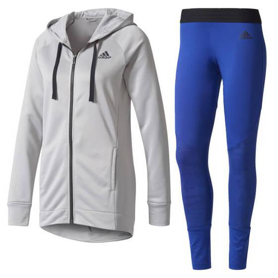 adidas - Women's Hoodie & Tight Tracksuit - Svetari ja treenitakki