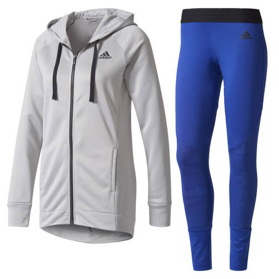 adidas - Women's Hoodie & Tight Tracksuit - Training jacket