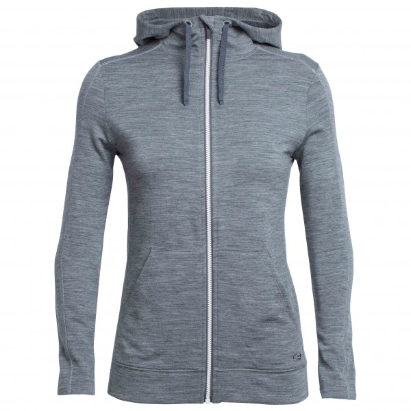 Icebreaker - Women's Dia L/S Zip Hood - Wool jacket