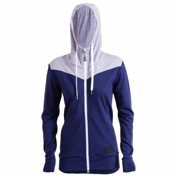 Mons Royale - Womens Mid-Hit Hoody Aw16 - Wollen jack
