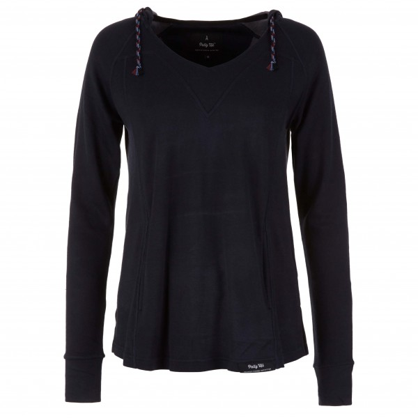 Pally'Hi - Women's Neverest V-Neck Hoodie - Merino sweatere