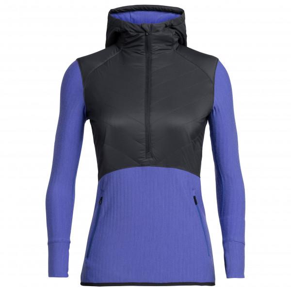 Icebreaker - Women's Descender Hybrid L/S Half Zip Hood - Wollen jack