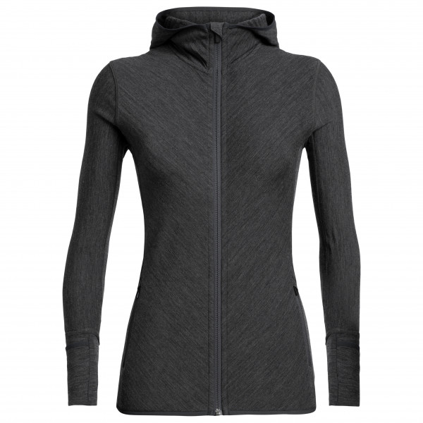 Women's Descender L/S Zip Hood - Wool jacket