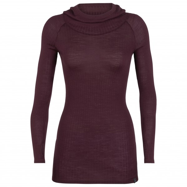 Icebreaker - Women's Luxe Rib Pullover Hoody - Merino jumper