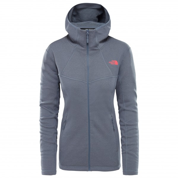 The North Face - Women's Inlux Wool F/Z Hoody - Yllejacka