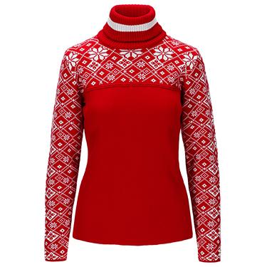 Mount Red Feminine Sweater - Wool jumper
