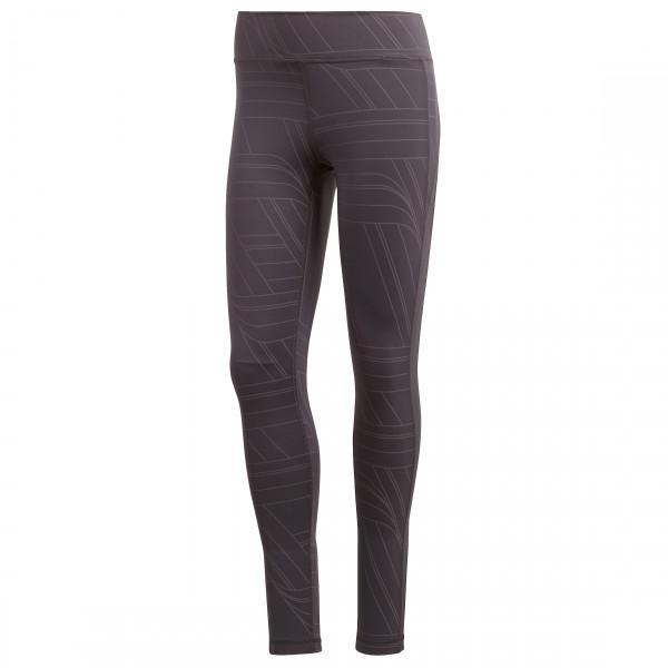 adidas - Women's Believe This Regular Rise Print Long Thigt - Verryttelyhousut